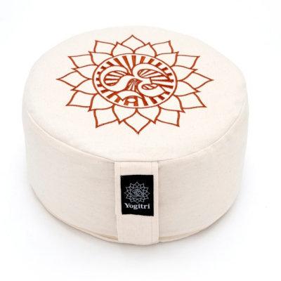 Símbolos meditação almofada