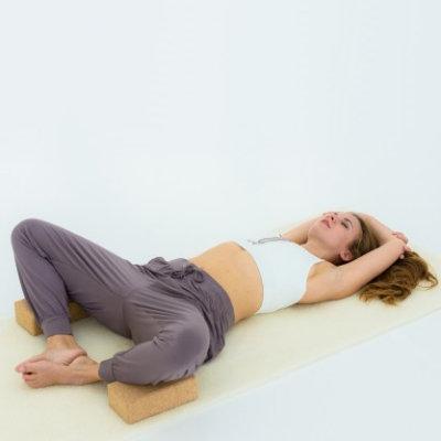 Tapete de lã de ovelha yoga