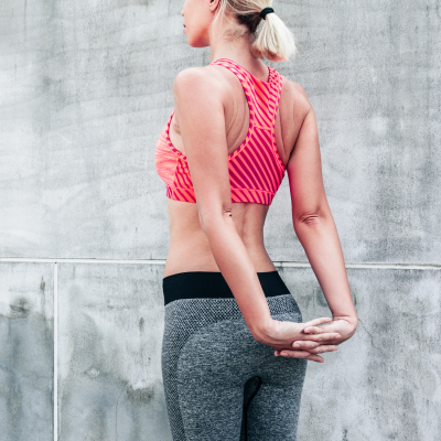 Vestuário de fitness e pilates